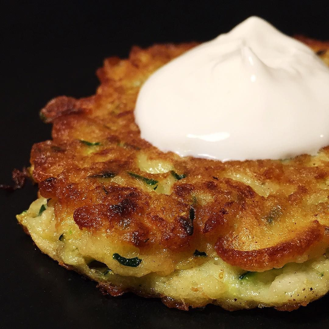 Zucchini Pancakes The Recipe Didn T Call For A Dollop Of Sour