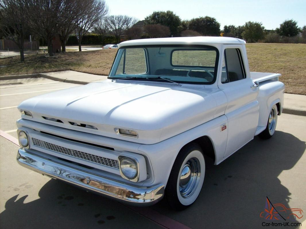 small resolution of 1966 chevy truck c10 shortbed stepside hot rod street rod v8 photo