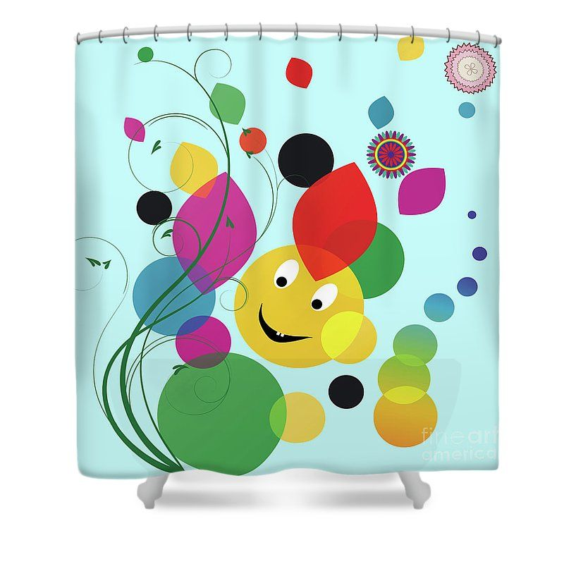 Happy Spring Image Shower Curtain For Sale By Heinz G Mielke