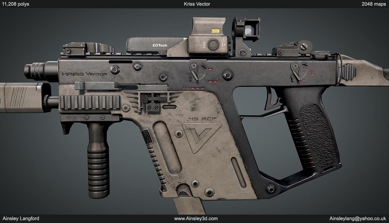 Ainsley | Ainsley3d com | Here's a Kriss Vector I've been working on