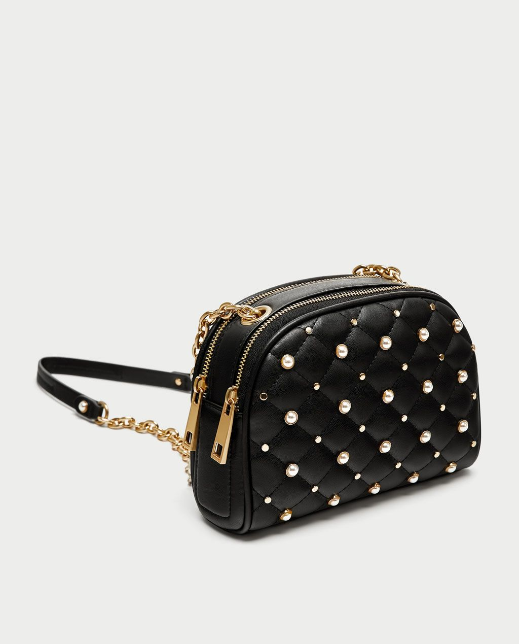 Image 1 Of Quilted Pearly Crossbody Bag From Zara In 2019