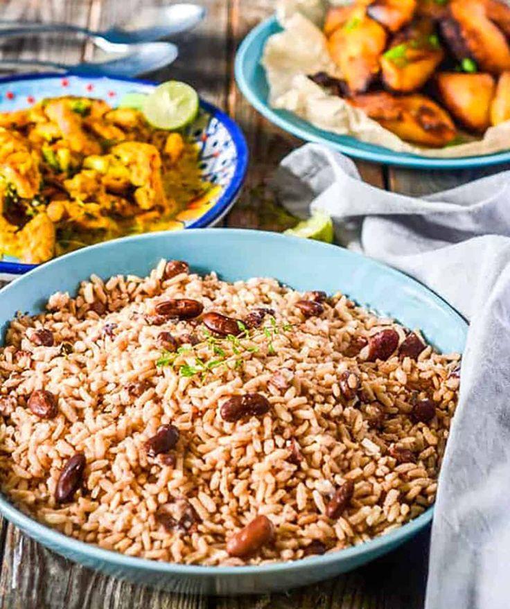 jamaican rice and peas recipe  jamaican dishes jamaican