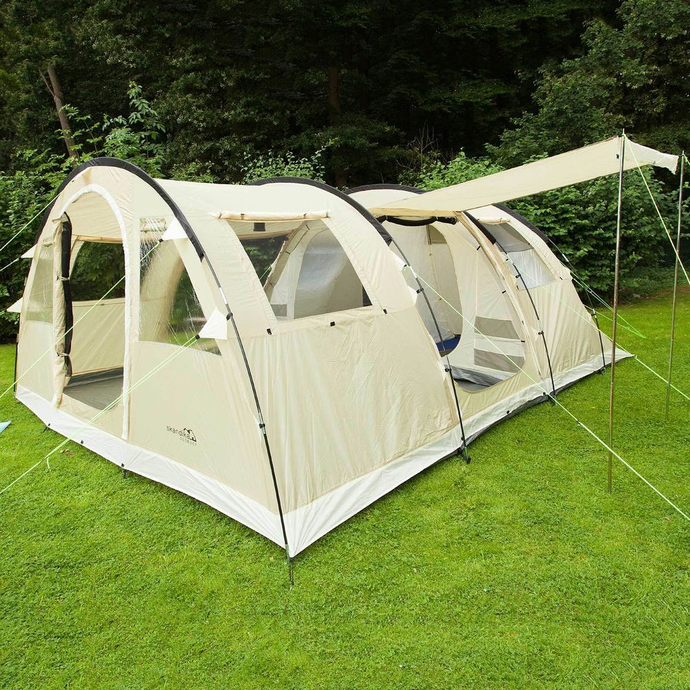 9 man tents with sewn in groundsheet
