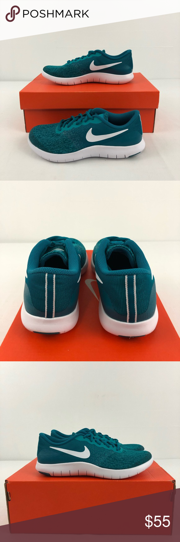 da02c756a664 Nike Flex Contact GS Nike Flex Contact GS Kid s Size 5.5 Style  917937 400  Color  Blustery White-Turbo Green New in box (display model) Please feel  free to ...