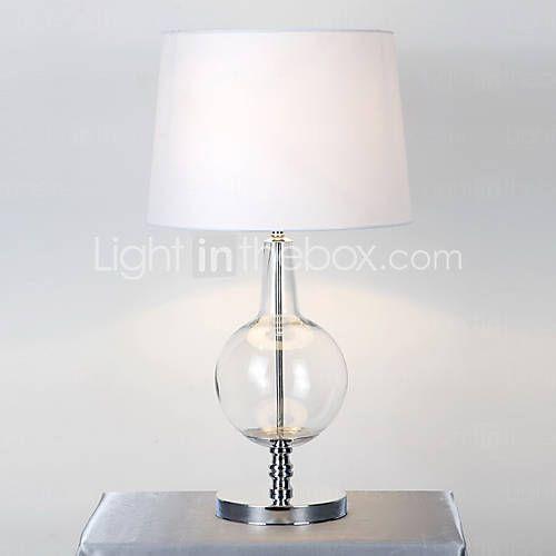 [EUR € 98.99] Modernin minimalistinen Lasi Pöytälamppu kangasvarjostin taidelasien Body