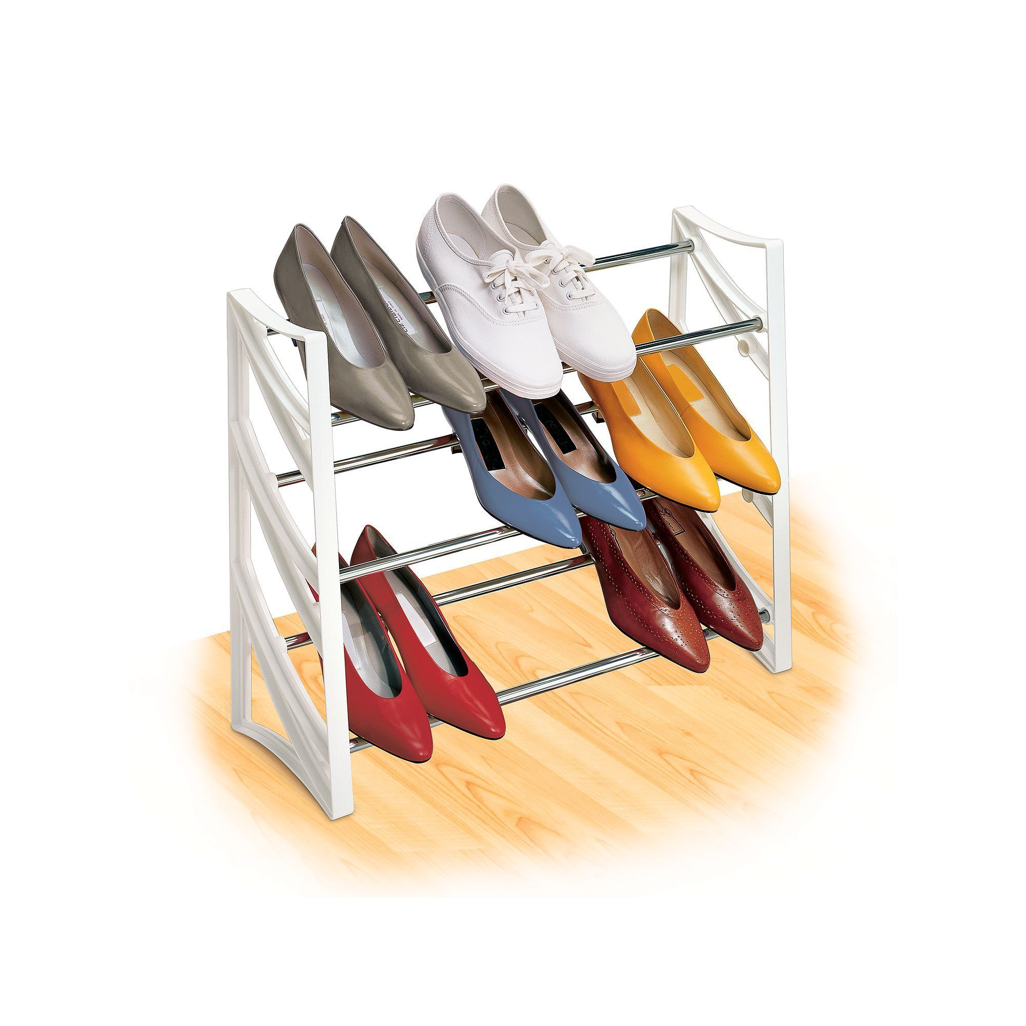 Lynk pair convertible shoe rack white products