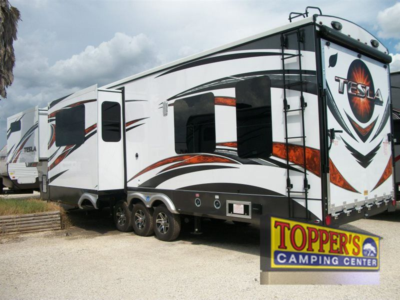 New 2015 Evergreen Rv Tesla 3950 Toy Hauler Fifth Wheel At