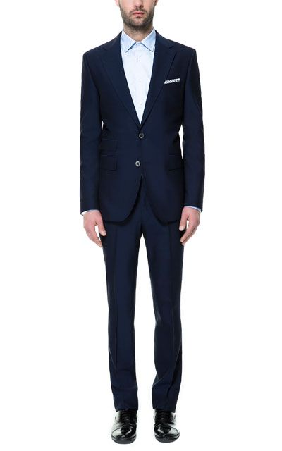 Image 1 Of Inky Blue Suit From Zara Wedding