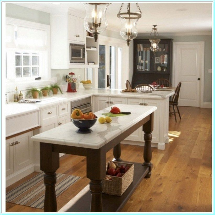 38 Amazing Narrow Kitchen Island with Seating Ideas - Decor Renewal #longnarrowkitchen