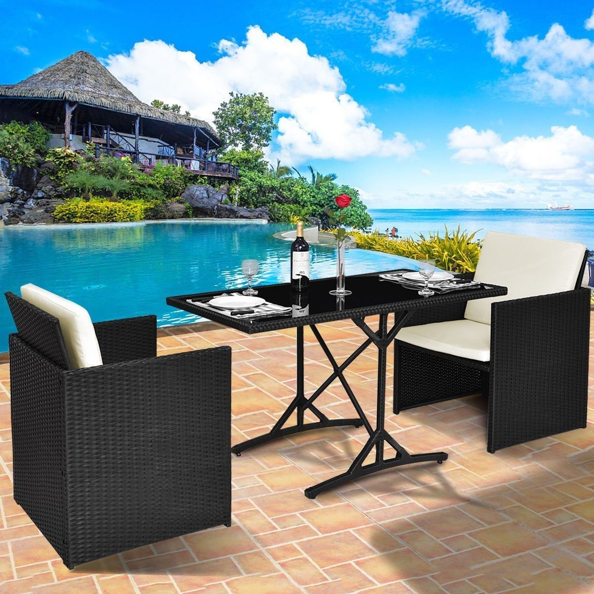 Outdoor Wicker Patio Furniture! We Love Wicker Furniture Outside On A  Patio, Balcony,