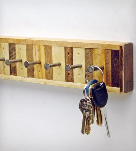 8-Hook Reclaimed Wood Key Holder | Key, Woods and Studio