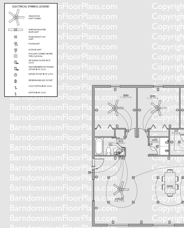 Barndominium Floor Plan Electrical Sample Barndominium Floor Plans Floor Plans Metal Barn Homes