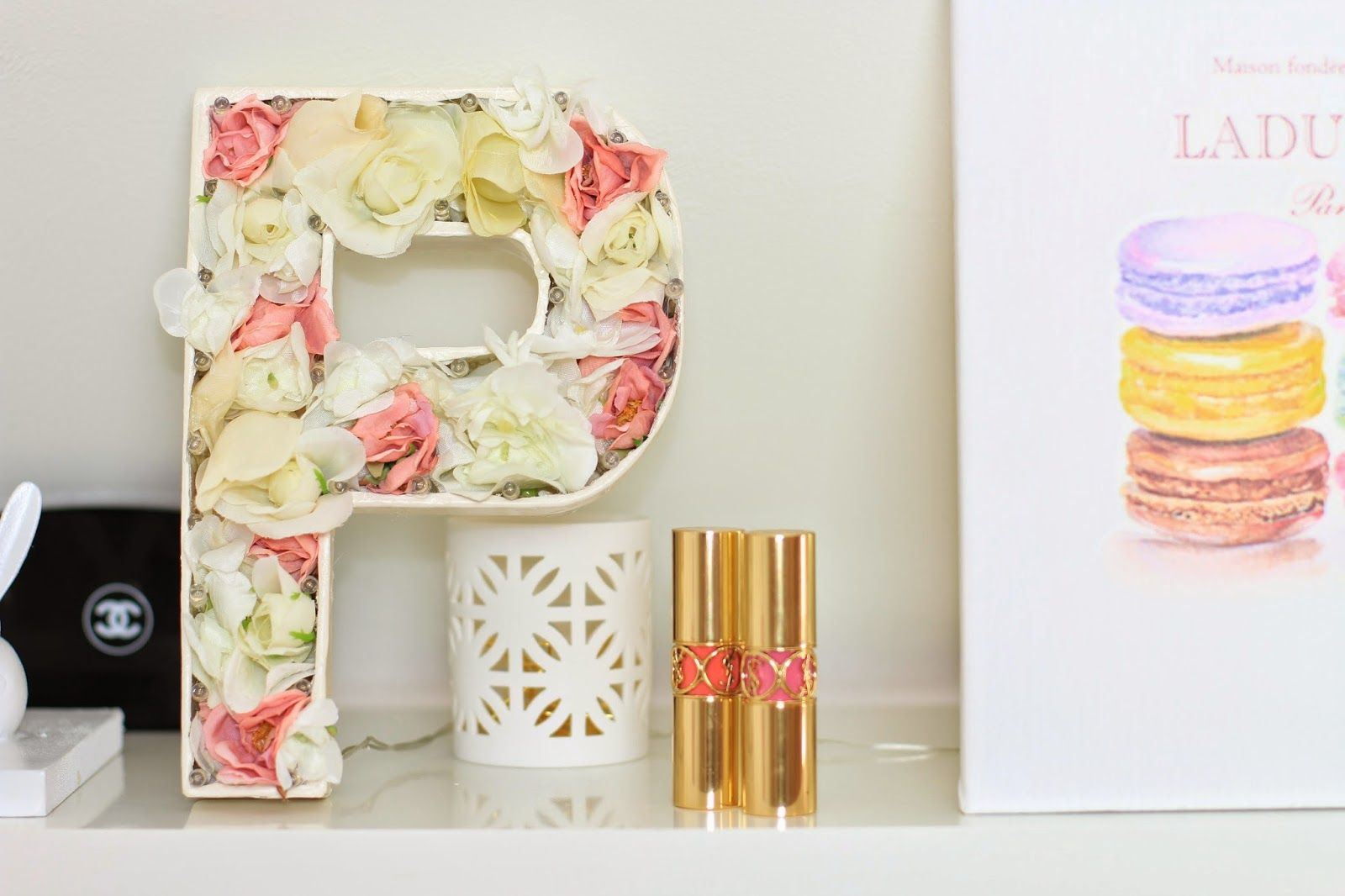 Spring Floral Monogram Marquee With Or Without Lights
