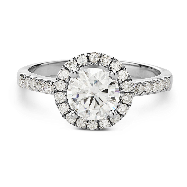 Forever Brilliant 6.5mm Moissanite Engagement Ring size