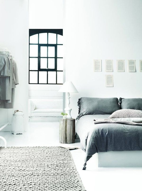harmaata ja valkoista #makuuhuone