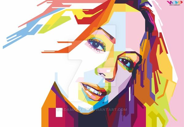 Mariah Carey In Wpap By Adamkhabibi Geometric Portrait Pop Art Portraits Pop Art
