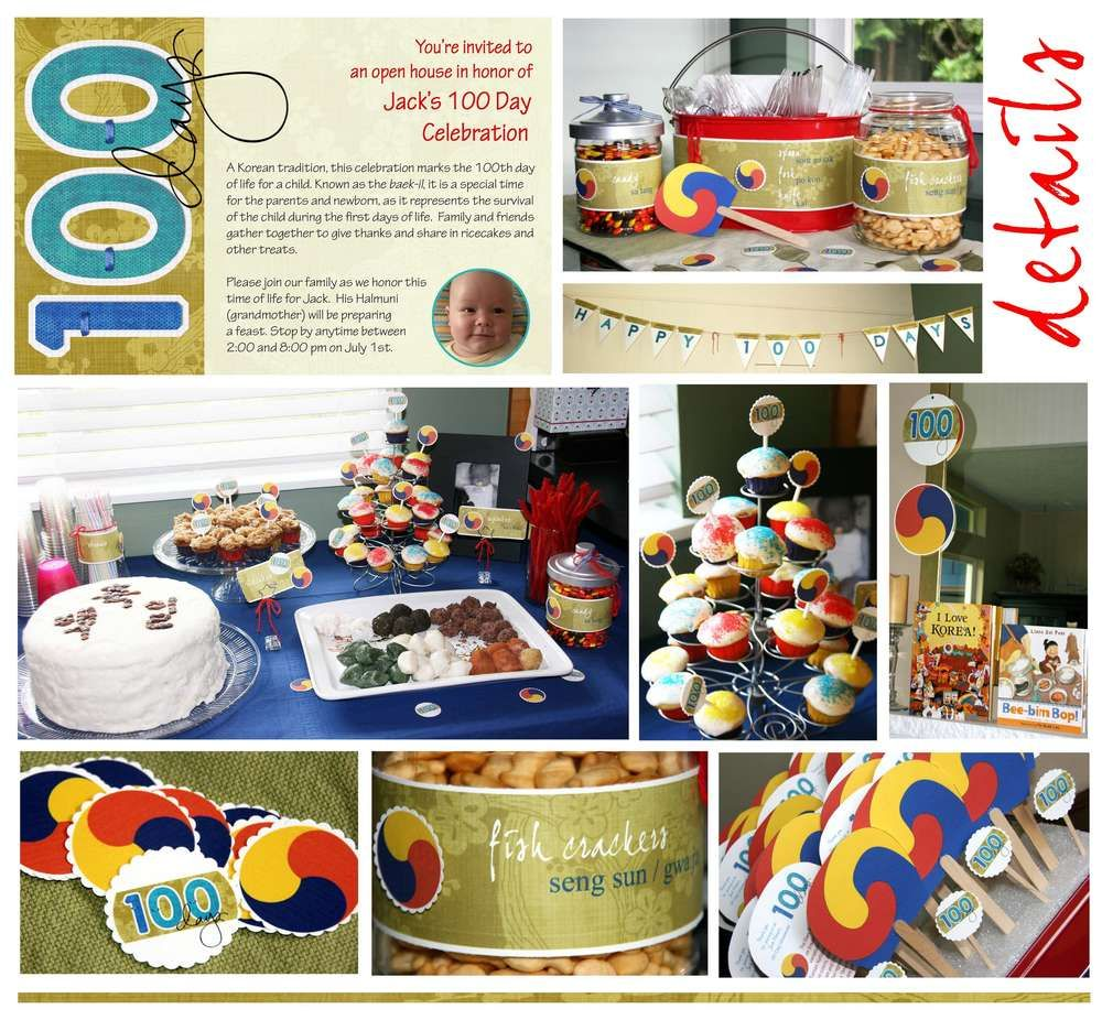 Korean Tradition Korean 100 Day Celebration Party Ideas
