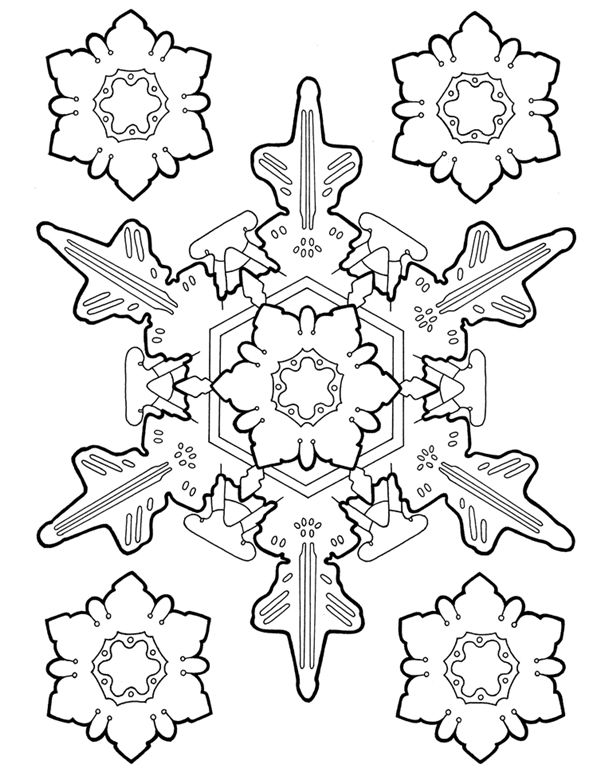 Snowflake designs coloring book dover publications