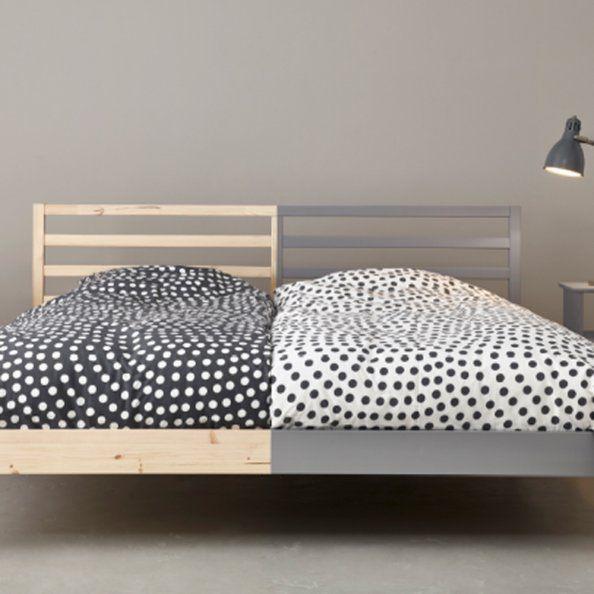 Un lit bicolore original et harmonieux