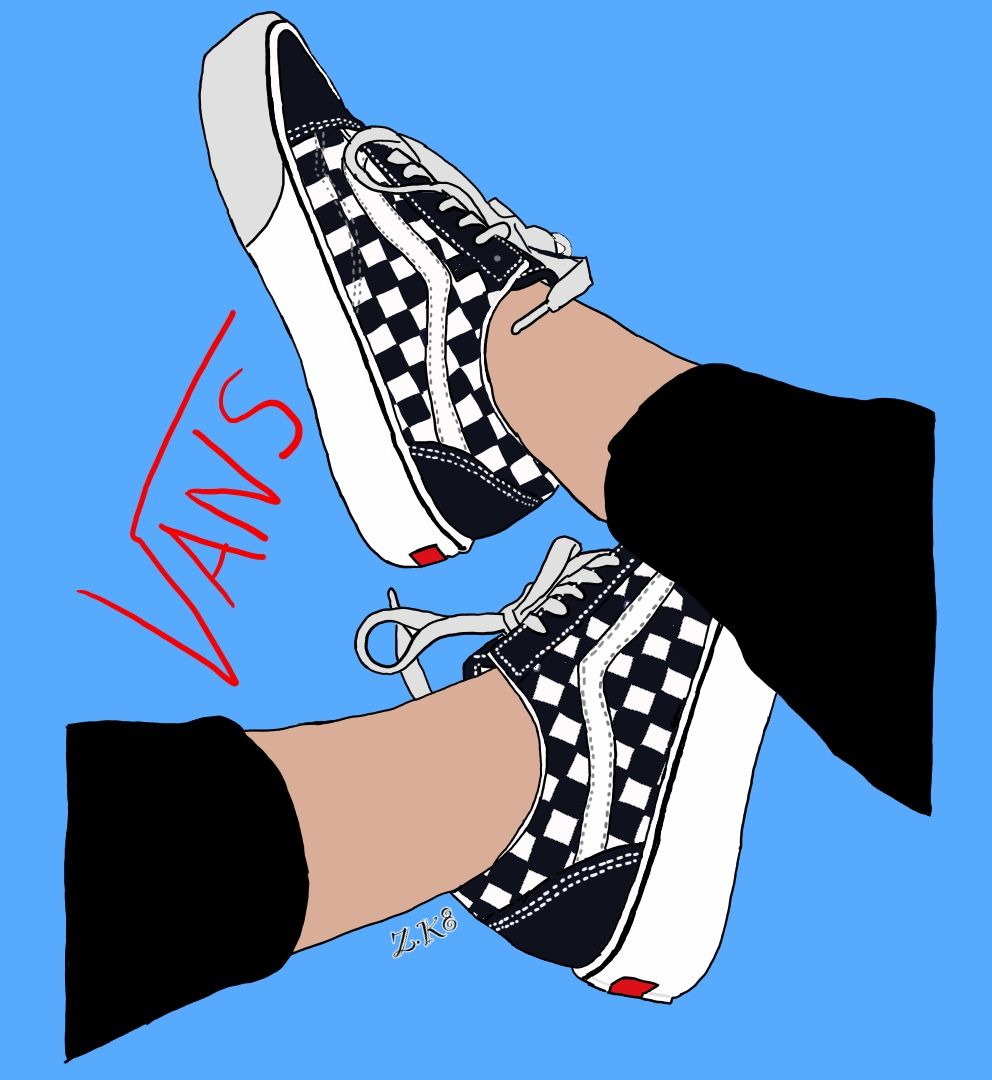 vans illustration wallpaper draw Shoes wallpaper