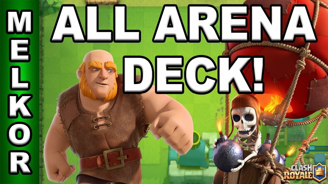 Clash Royale Arena 1 9 Giant Balloon Deck Amazing Giant And Balloon Clash Royale Clash Royale Deck Arena