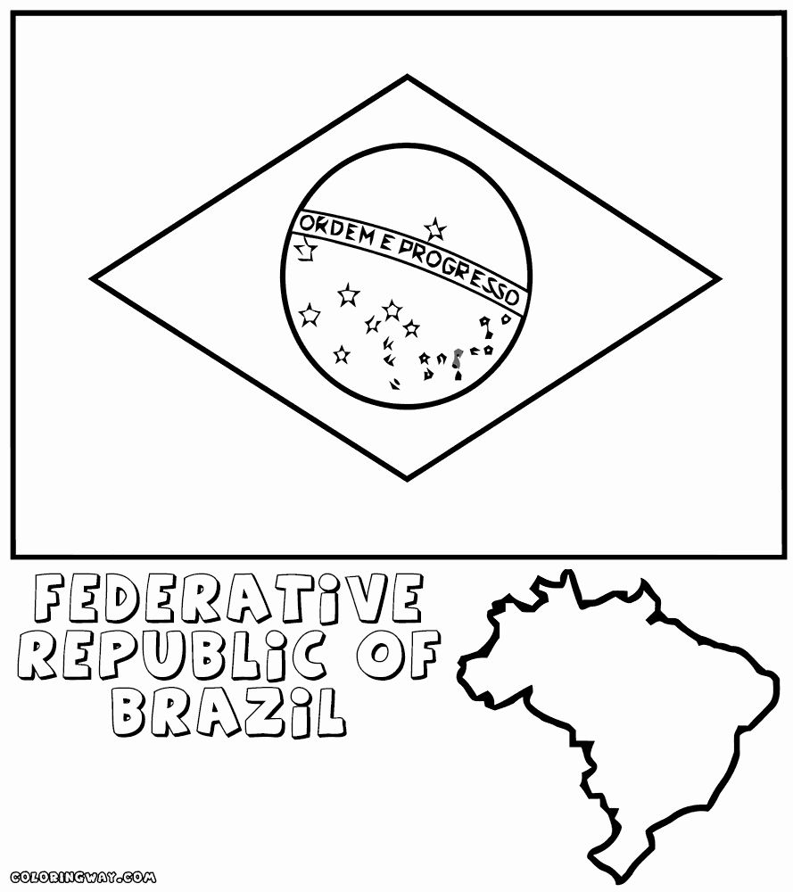 Brazil Flags For Coloring Flag Coloring Pages Coloring Pages Star Coloring Pages