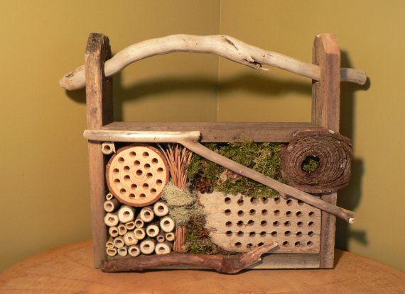 Bee House Rustic Mason Bug By FlotsamJetsamCrafts
