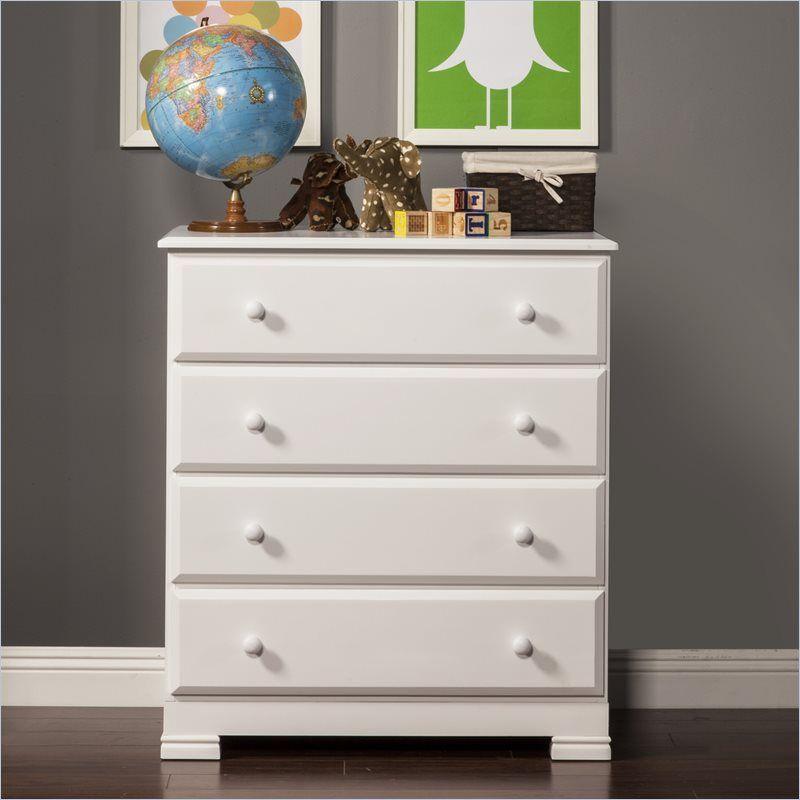 Davinci kalani 4 drawer chest in white finish kids
