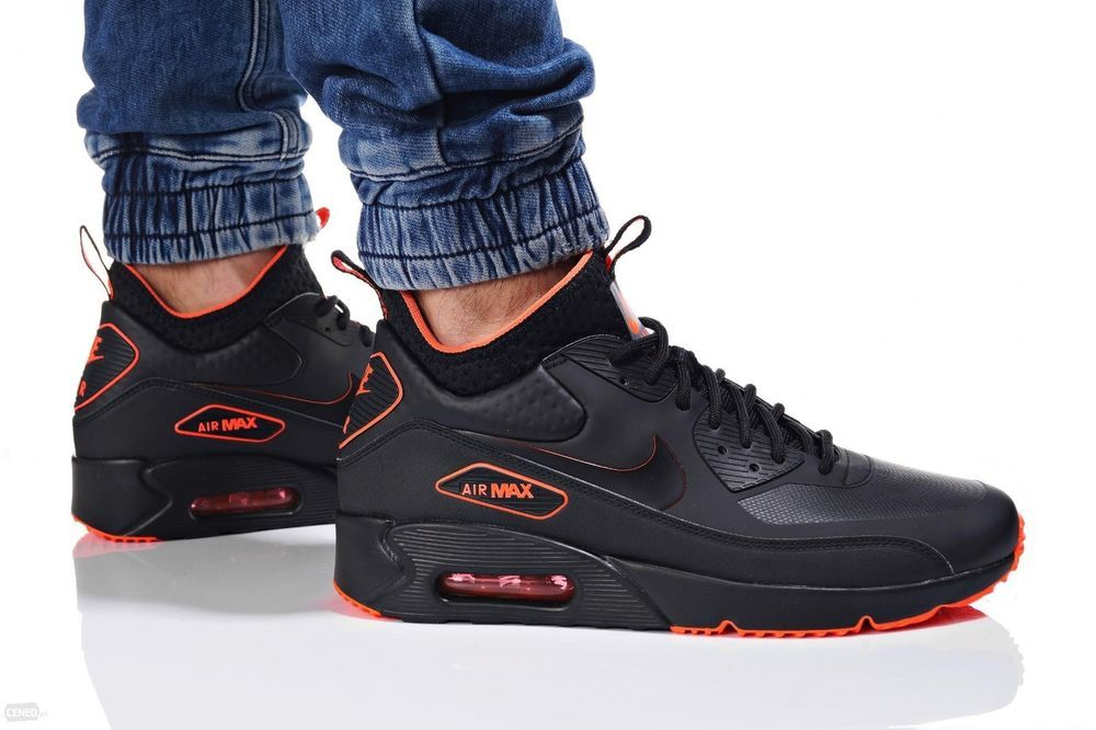 more photos ee289 6f594 NIKE AIR MAX 90 ULTRA MID WINTER Herren Sneaker Turnschuhe Schwarz  AA4423-001