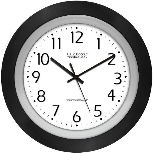 La Crosse Technology 4041225 Analog Round Clock 10inch Black Frame Check Out This Great Product Atomic Wall Clock Wall Clock Clock