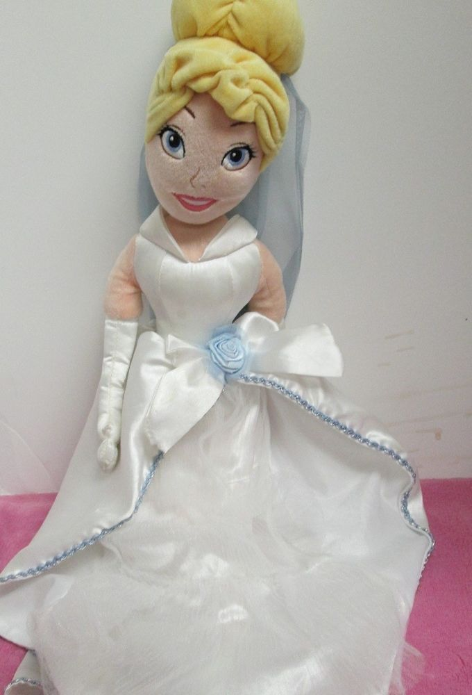 Disney Cinderella In A Wedding Dress Plush Doll 21 Quot Pretty