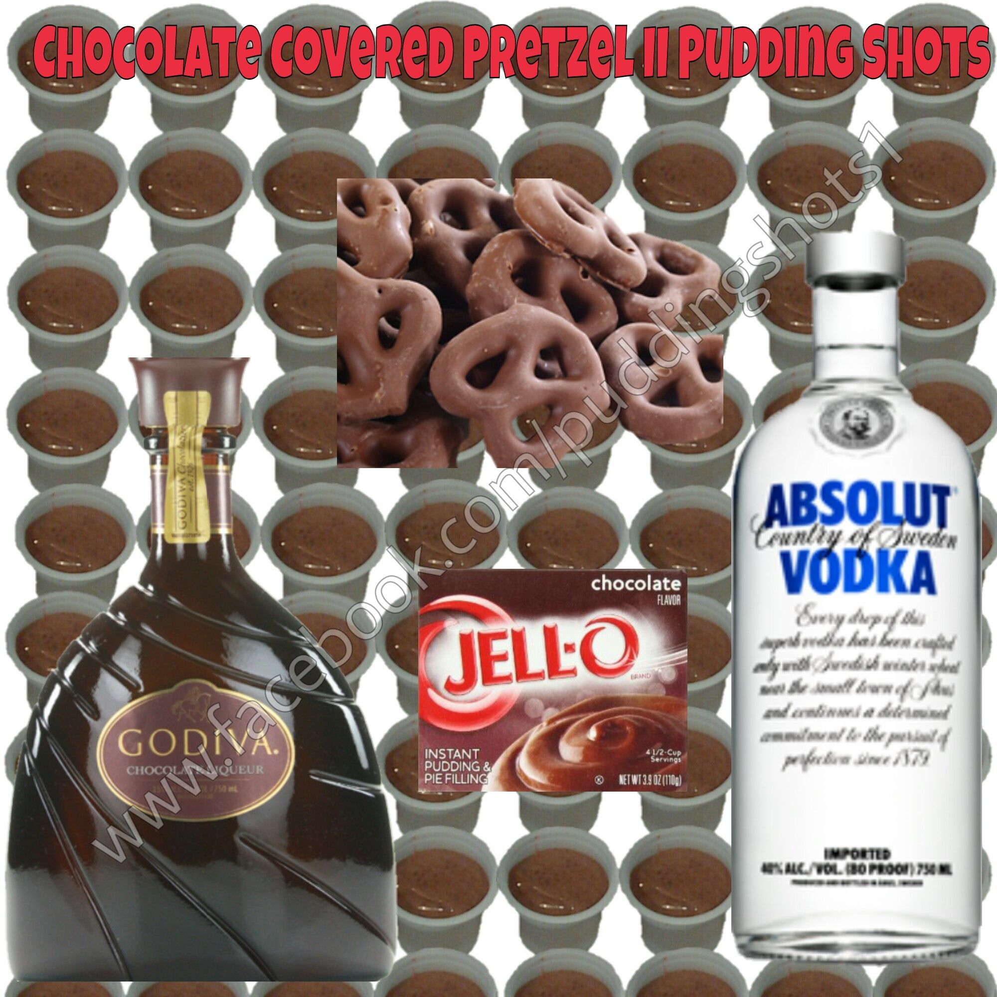 Chocolate Covered Pretzel Pudding Shots See Full Recipe