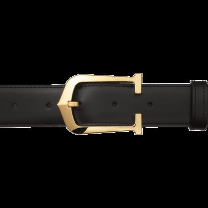 Cartier Elongated 'C' Belt Gold Buckle having a gold