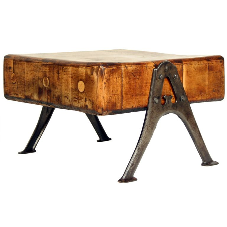 Astounding Vintage Industrial Butcher Block Table In 2019 Living With Pdpeps Interior Chair Design Pdpepsorg