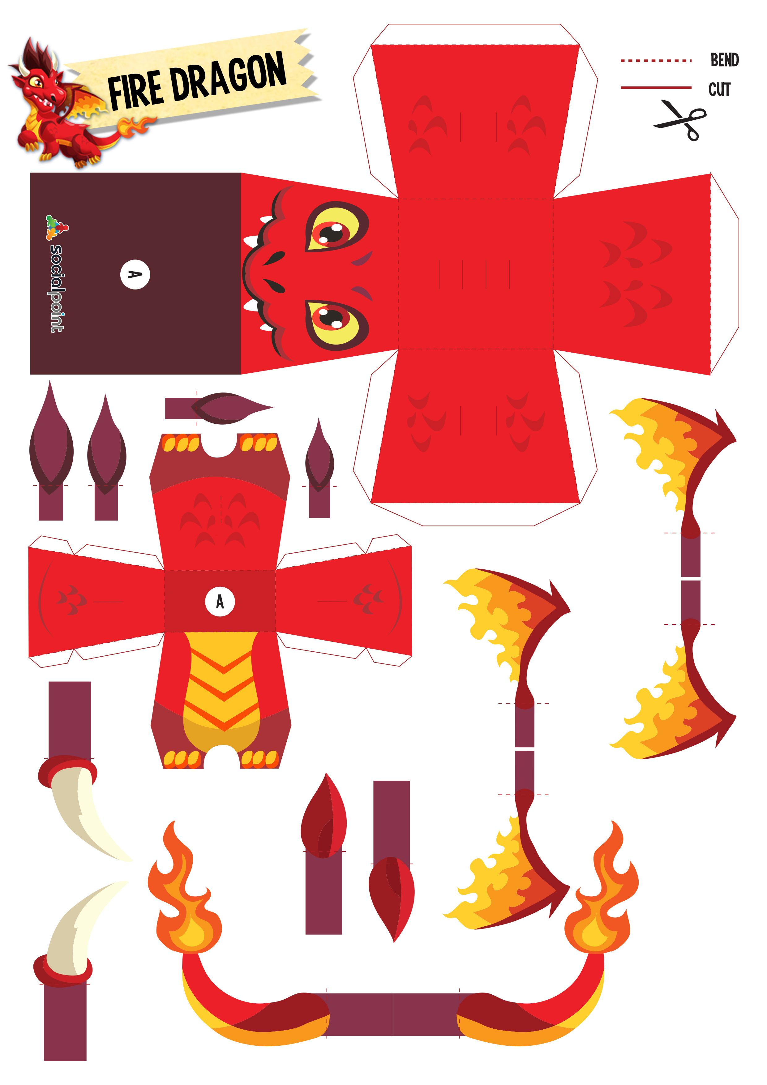 Papertoyfiredragon Diy Pinterest Paper Toys Paper And Paper