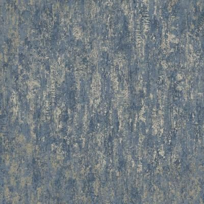 Walls Republic Metallic WeatheRed Wallpaper Metallic Navy Paper Strippable Roll (Covers 57 sq. ft.) R6497 - The Home Depot