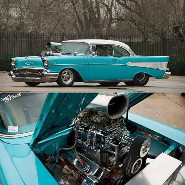 57 chevy /500hp super charged with a 540ci