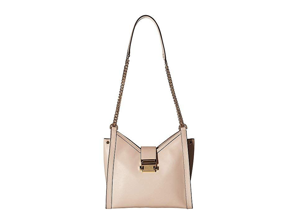MICHAEL Michael Kors Whitney Small Chain Shoulder Tote Soft Pink Tote Handbags Make your look complete with the clean MICHAEL Michael Kors Whitney Small Chain Shoulder To...