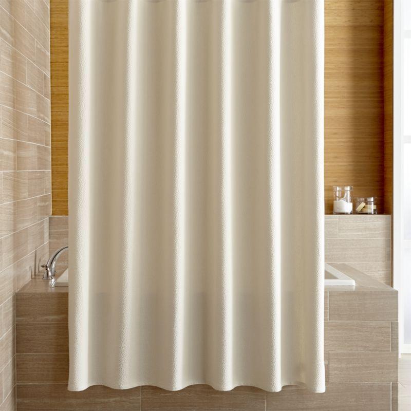 Pebble Matelasse Oyster Shower Curtain
