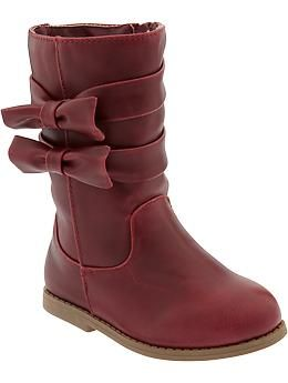 9664e33c281 Faux-Leather Bow-Tie Boots for Baby | Lillian loves fashion | Kid ...