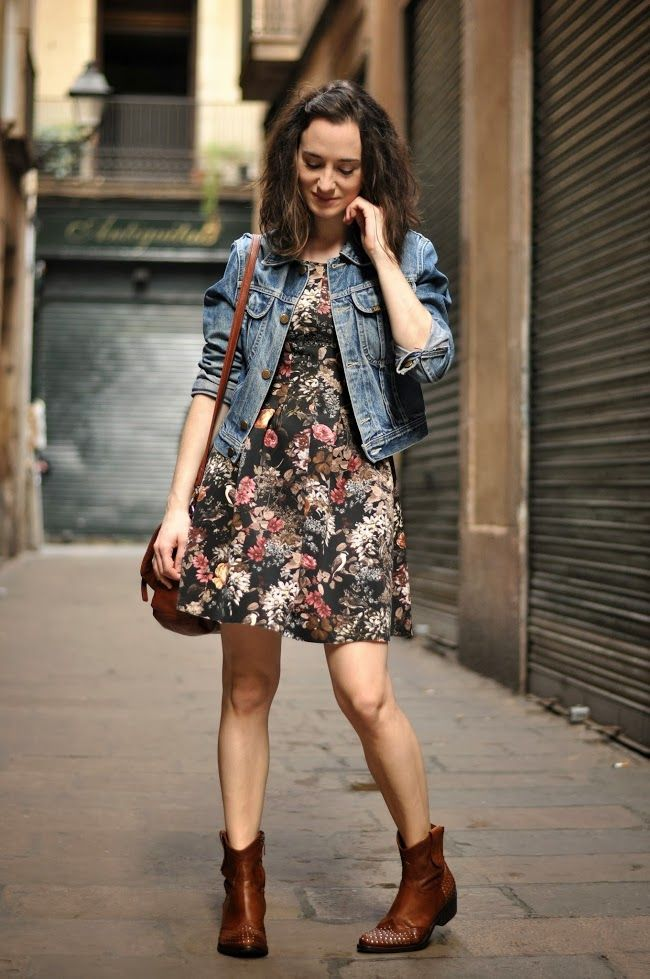 Neoprene floral dress
