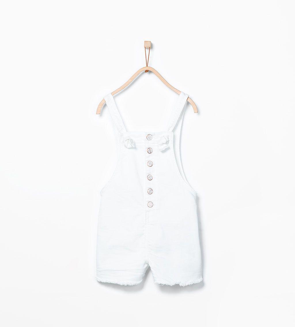 ZARA - KIDS - Buttoned short dungarees