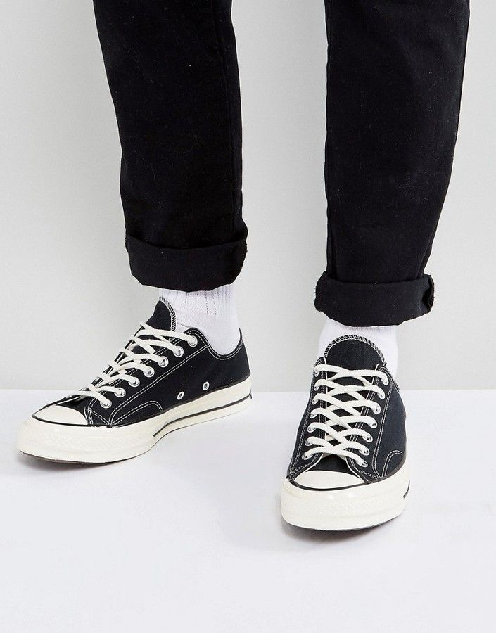 bfc6f65737e8 Converse Chuck Taylor All Star  70 ox plimsolls in black 144757c in ...