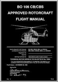 mbb messerschmitt bolkow blohm bo 105 cb cbs flight manual rh pinterest com flight manual bo 105 Lynx Aircraft