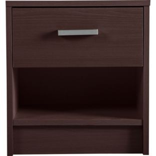 Buy Napoli 1 Drawer Bedside Chest - Wenge at Argos.co.uk - Your Online Shop for Bedside cabinets.