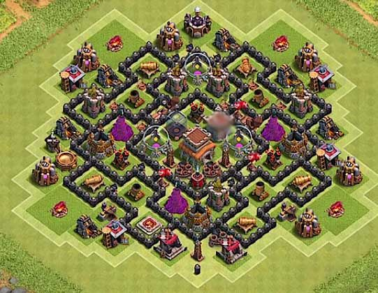 Defence Coc Th 8 Base 3