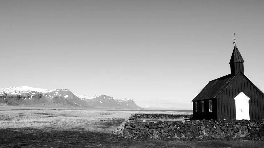 Beautiful black and white pictures of iceland