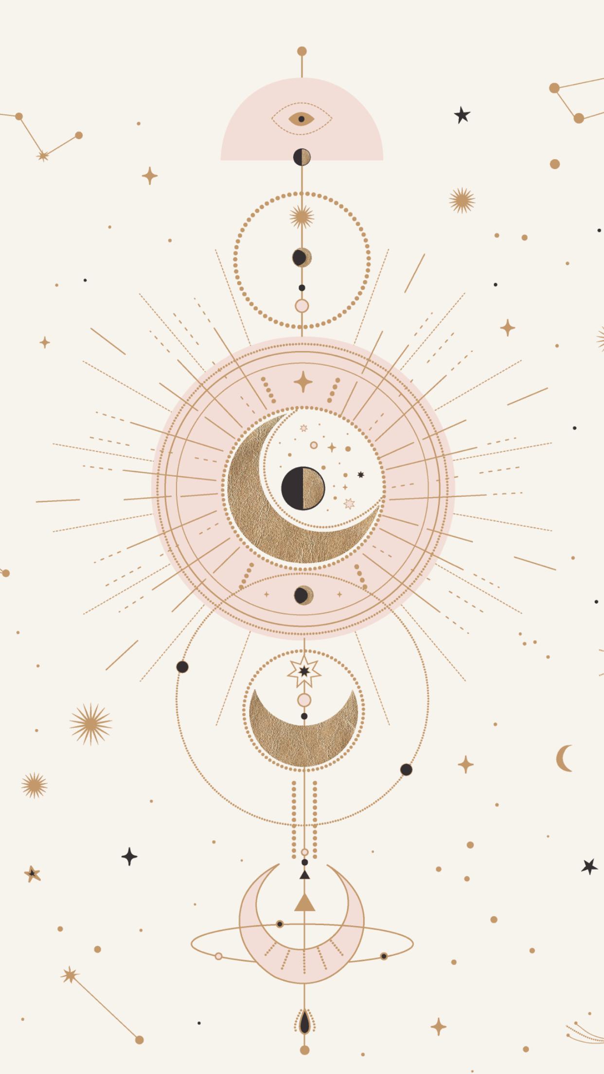 Moon design art | #opulentmemory #astrologyaesthetic