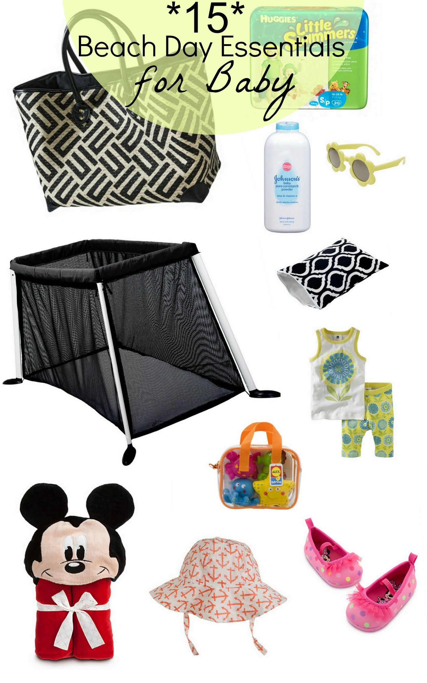Headed To The Beach With Baby In Tow See Just What Day Essentials For