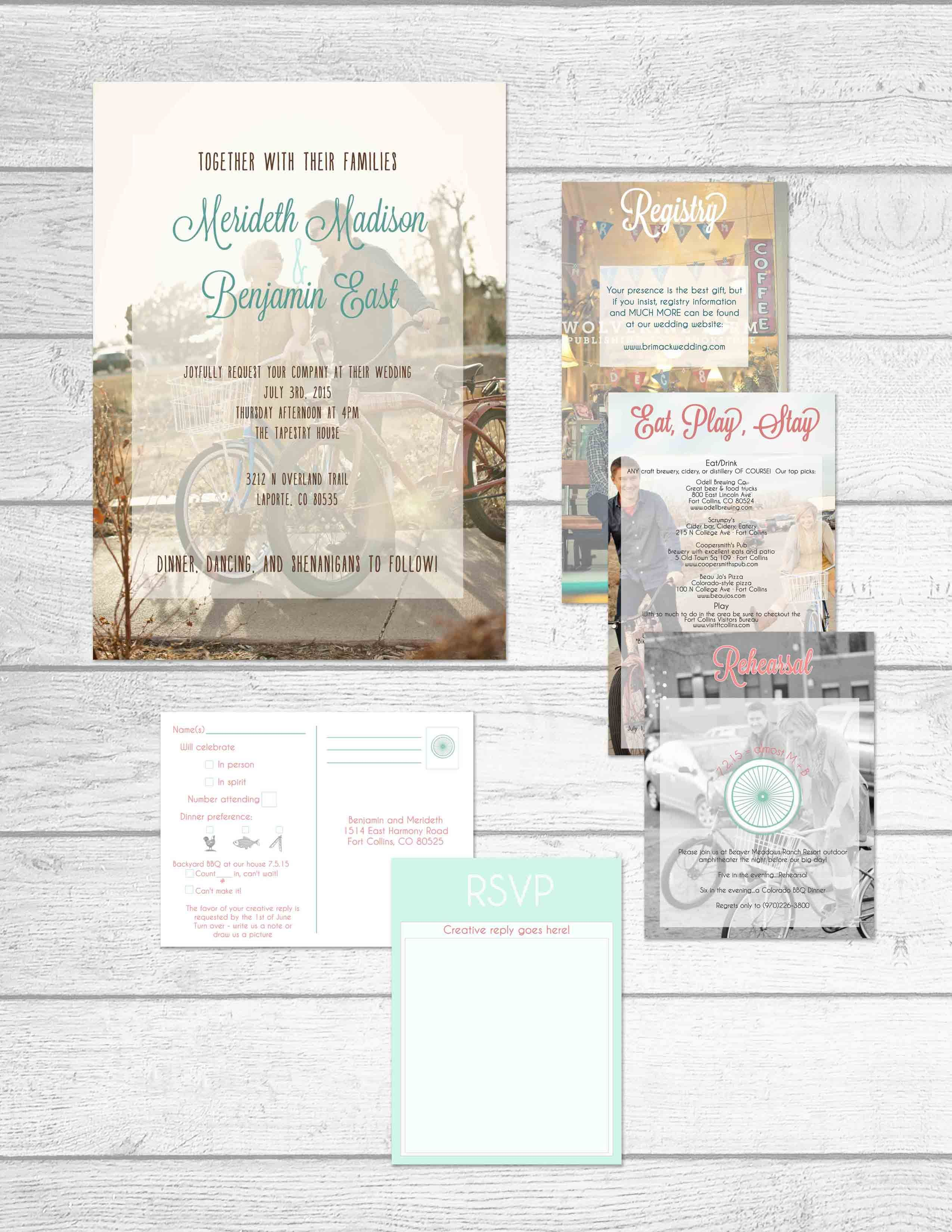 Photo Themed Wedding Stationery Collection by The Print Cafe in Fort ...